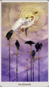empowering tarot six swords